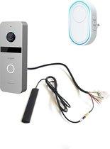 Doorsafe 6665 - Internet camera video deurbel - van robuust metaal - internet via WiFi of netwerkkabel of POE - met WiFi gong DS6603