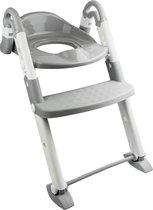 Babyloo Bambino Boost 3-in-1 Training Seat - Gray/White (toilettrainer met trapje kids – plaspot – kindertoiletbril – zindelijkheidshulp – wc training
