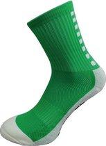 Gripsokken voetbal groen - sportsokken - grip - anti blaren - compressie - prestatieverhogend - tennis - hardlopen - handbal - sporten - fitness