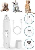 Elektrische Nagelvijl Hond of kat - Huisdieren nagelschaar -  Dieren Nagelknipper - Oplaadbaar en draadloos - Wit
