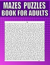 Mazes Puzzles Book For Adults