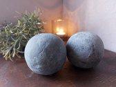 Brynxz - Set van 2 stuks - Decoratieve ballen van beton - Industrial Vintage - Ø7cm
