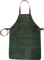 BBQ Schort - Leer - 81x56cm - Army-groen