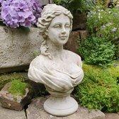 Betonnen tuinbeeld - buste jonge dame