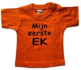 Mijn eerste EK - Oranje babyshirt - Holland souvenir - Nederlands elftal shirt - Ek voetbal - maat 92