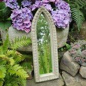 Betonnen tuinbeeld - betonnen decoratieve lancet spiegel
