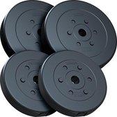 ScSPORTS® Halterschijven set 30 kg - Kunststof - 30 mm - 2x10 - 2x5 kg - Gewichten