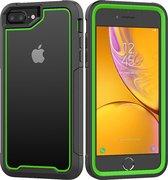 Apple iPhone 7 / 8 Plus Backcover - Zwart / Groen - Shockproof Armor - Hybrid - Drop Tested