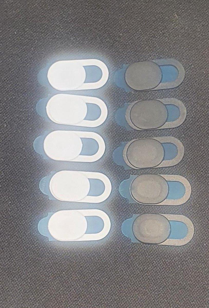webcam covers wit en zwart voor mobiel, tablet en laptop 5x wit en 5x zwart- webcam - cover - samsung - iphone - camera bescherming -