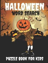 Halloween word search puzzle book for kids