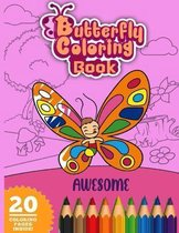 Awesome Butterfly Coloring Book
