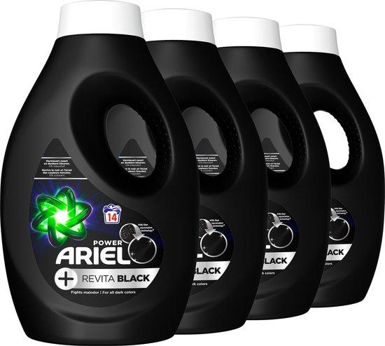 Ariel Vloeibaar Wasmiddel + Revitablack - Voordeelverpakking - Zwart Was - 4x14 Wasbeurten