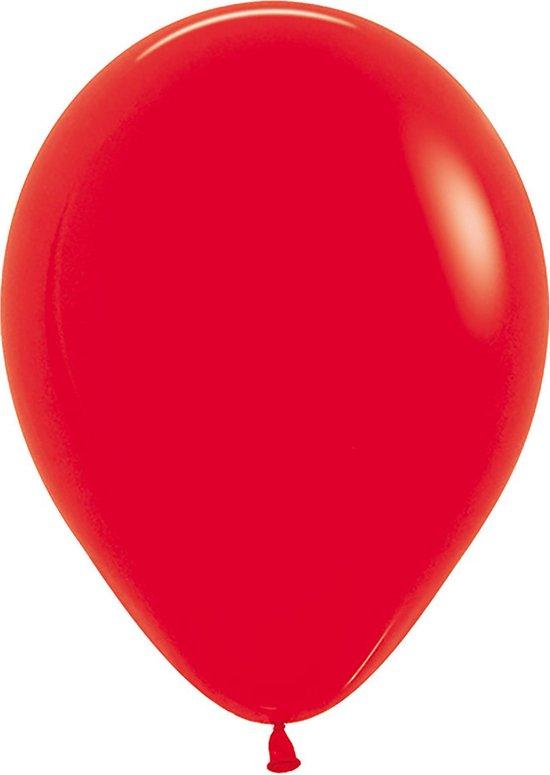 Ballon 30  cm, rood, Sempertex kwaliteit