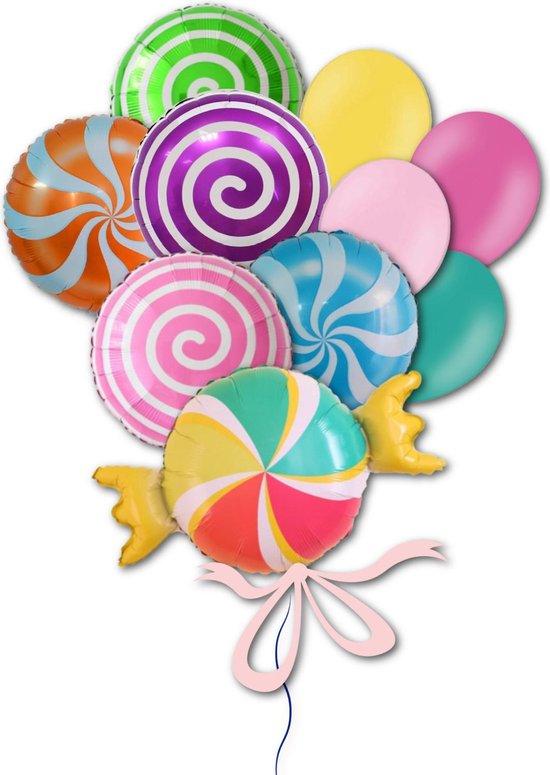 Folie Ballon Snoep Candybar voor Verjaardag, Themafeest, Kinderfeest, Sweet 16, Bruiloft   Geschikt voor Helium