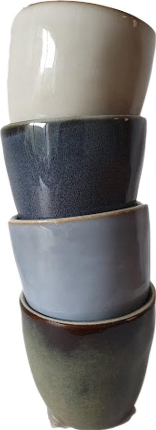Lavandoux Ceramics Origionals espressokopjes 70 ml, set van 4