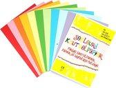 Gekleurd Papier A4 100 vellen, 80 gsm - kleurrijk origamipapier - vouwpapier -knutselpapier | knutselen voor kinderen en volwassenen