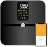 Robi S9 Weegschaal - Smart - Lichaamsanalyse - Groot kleuren display - Personenweegschaal