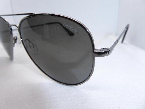 Randolph concorde, zonnebril, gunmetal, skytec polarized american grey, CR093