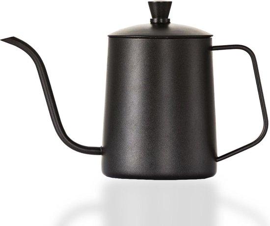 House of Husk™ - Slow Coffee Ketel - Zwart - Pour Over Kettle - Gooseneck kettle - Heet Water Ketel - Coffeemaker - RVS - Cafetière - Pour Over - Koffie - 600 ml