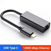 USB-C 3.1 naar RJ45 Ethernet - Internet Adapter - 10/100/1000 - Converter - Hoge Snelheid - Geschikt Voor - Macbook - Samsung - Chromebook en meer