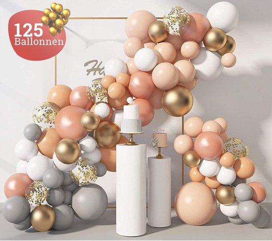 Sellaio Ballonnenboog – Ballonnen verjaardag – Versiering- Babyshower – Bruiloft – Inclusief strip en pomp – Complete set – 125 ballonnen