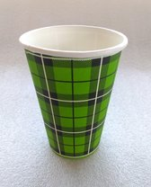 Koffiebeker Schotse Ruit Scotty Groen 180ml - 2500 stuks