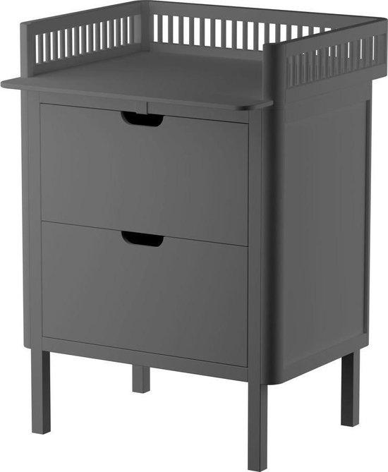 Product: Sebra 2-in-1 commode met lades - classic grey, van het merk Sebra