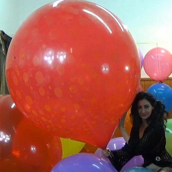 1 grote Cattex 40-45 inch met ronde vorm reuze ballonnen met mix kleuren - 100+ cm - grote ballonnen
