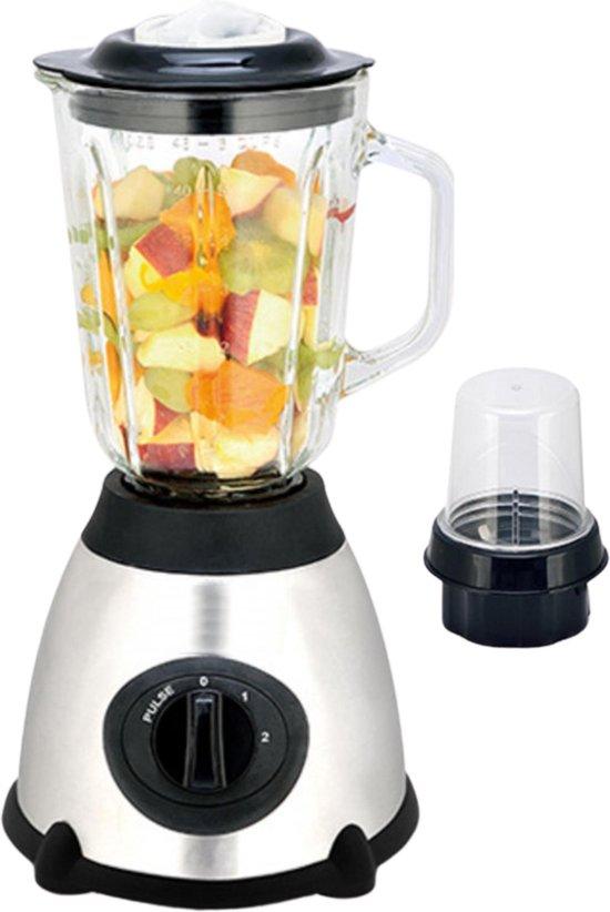 Blender - 1,5 L - Blender smoothie - Glas - RVS - 1030W