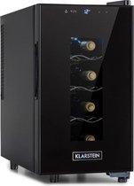 Klarstein Bellevin 8 Uno wijnkoelkast 23 liter /8 flessen - Temperatuurbereik: 11 tot 18°C - 26 dB - Een koolzone