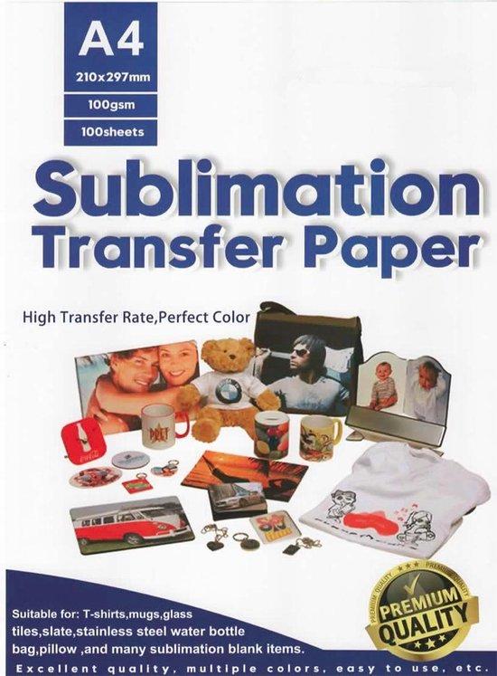 Afbeelding van 100 A4 vellen Premium sublimatiepapier | Sublimatie Printer papier | transfer papier