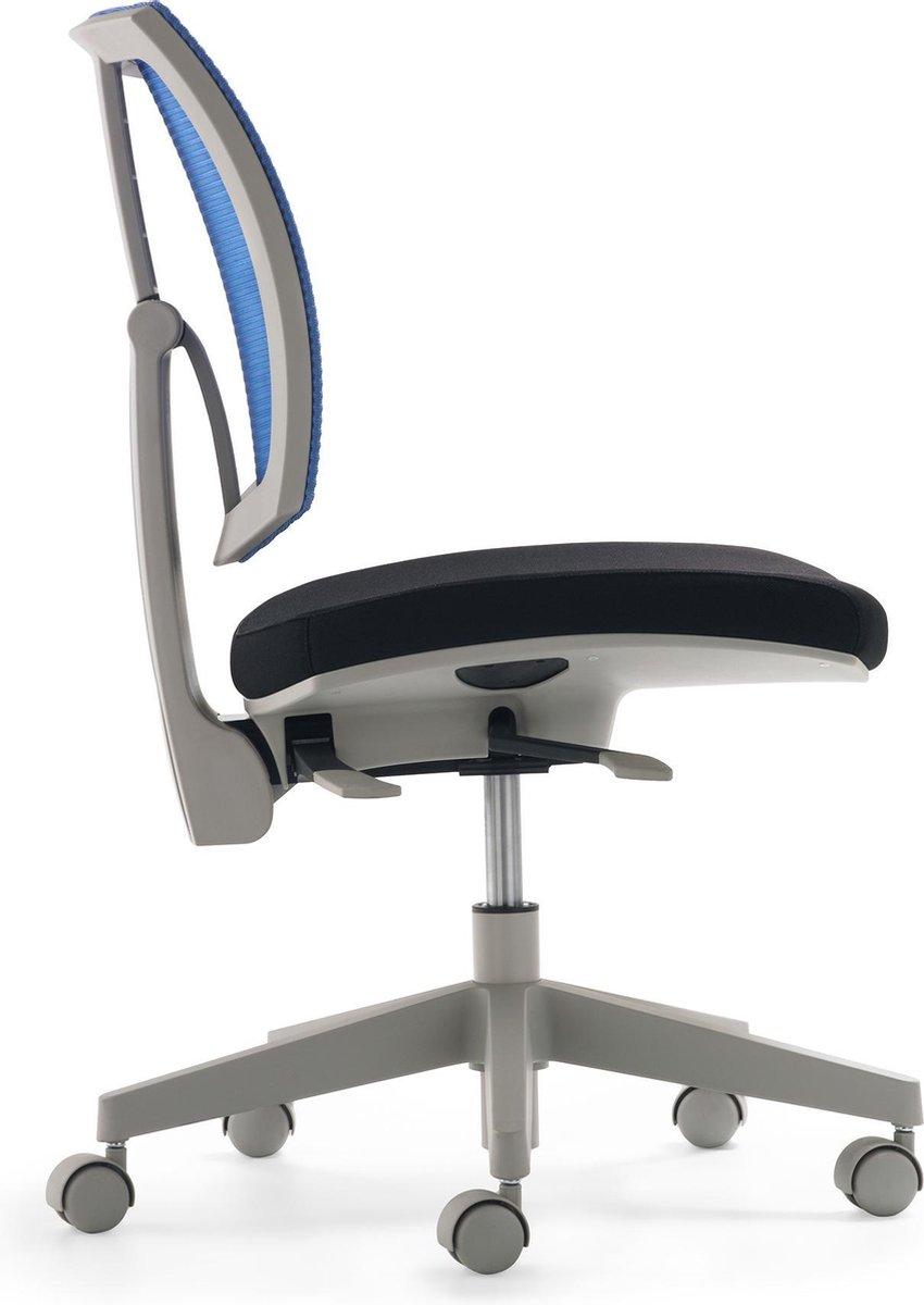 Nancy's Fairhope Bureaustoel - Draaistoel - Mesh - Zitdiepte En Hoogte Verstelbaar - Armleuningen - Kunststof - Zwart - Wit - Blauw - Groen - Metaal - 59 x 52 x 84-97 cm