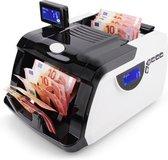 MONEYSCAN® Biljettelmachine - Stofhoes - 1000 Biljetten/minuut - 4-Voudig Valsgelddetector - Optel- en Afpasfunctie - Hopper 300 - Geldteller - Geldtelmachine - Geld Teller