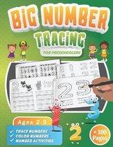 Big Number Tracing Book for Preschoolers