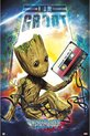 Guardians of the Galaxy poster -Marvel-superheld-Groot-cassette-61x91.5cm