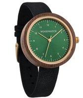 De officiële WoodWatch   Bergen Black   Houten horloge dames