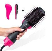 Just Essentials™️ Magic Brush föhnborstel - Inclusief Anti klit Borstel - Multistyler - Föhnborstel - Haardroger - Hete lucht Borstel - Magic Brush 3 in 1 Fohnborstel - Borstel Rond - Alle Haartypes - 3-in-1 Magic Brush - 2021 Model