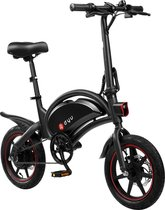 DYU - E-Bike D3F - Elektrische fiets - Smart bike - Opvouwbaar - 350W / 42V / 10Ah - 25 KM/H - Zwart