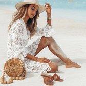 Kanten strand jurkje - Bikini cover up - Kort model - Beach dress short - Sexy strand jurkje