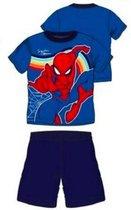 Spiderman pyjama - blauw - Maat 128 / 8 jaar
