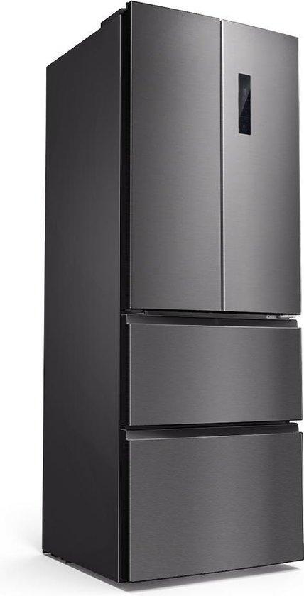 Amerikaanse koelkast: CHiQ Amerikaanse koelkast - CFD337NEI42 - 337 liter - Donker roestvrij staal - geïntegreerde leds - 40 db - 12 jaar garantie op de compressor, van het merk chiq