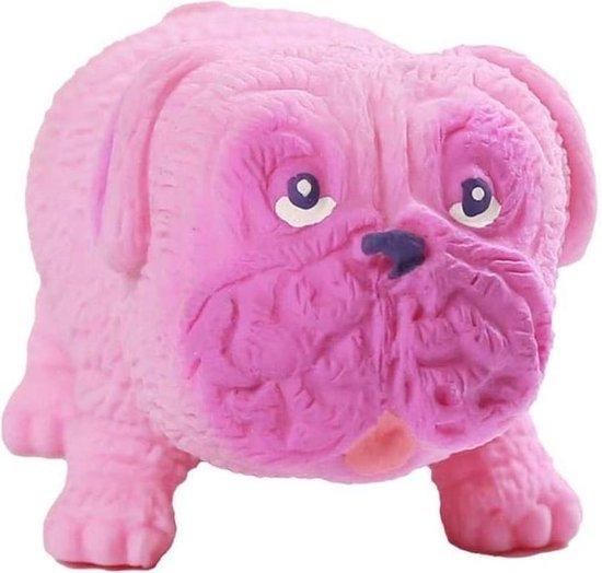 Zintuiglijke Stress Speelgoed Pug Hond Knijpen Speelgoed Decompressie Knijpen Pug-vormige Anti-Stress Speelgoed Geschenken voor Volwassenen Kinderen Roze