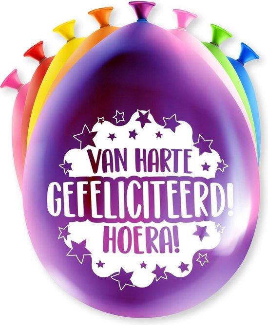 Verjaardag Ballonnen Van Harte Gefeliciteerd 30cm 8st