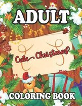 Adult Coloring Book Cute Christmas
