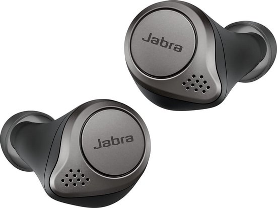 Jabra Elite 75t - Volledig draadloze in-ear oordopjes - Titanium/zwart
