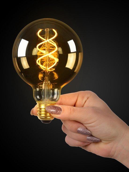 Lucide LED Bulb - Filament lamp - Ø 9,5 cm - LED Dimb. - E27 - 1x5W 2200K - Amber - Lucide