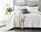 Sleeptime Bedsprei Chrone - 260 x 250 + 2 kussenslopen 60x70 - Wit