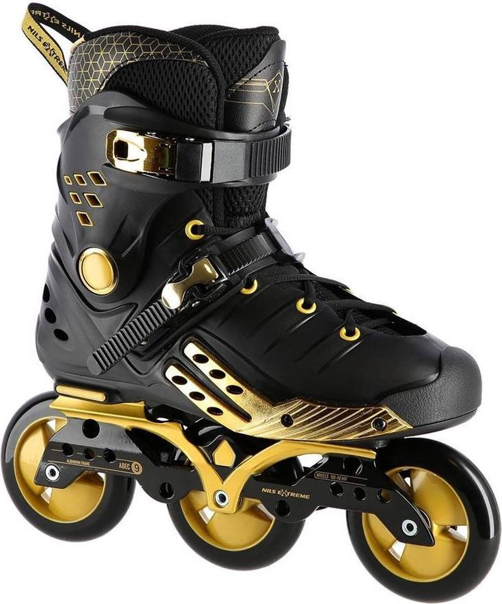 Nils - Slalom Free ride Speed inline skates/skeelers - Prof Gold Edition - Abec-9 maat 42