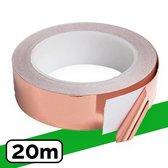 VerminBuster® Slakken Kopertape 20 meter - Anti Slakken Tape - Kopertape tegen Slakken - Slakkenval - Alternatief Slakkenring