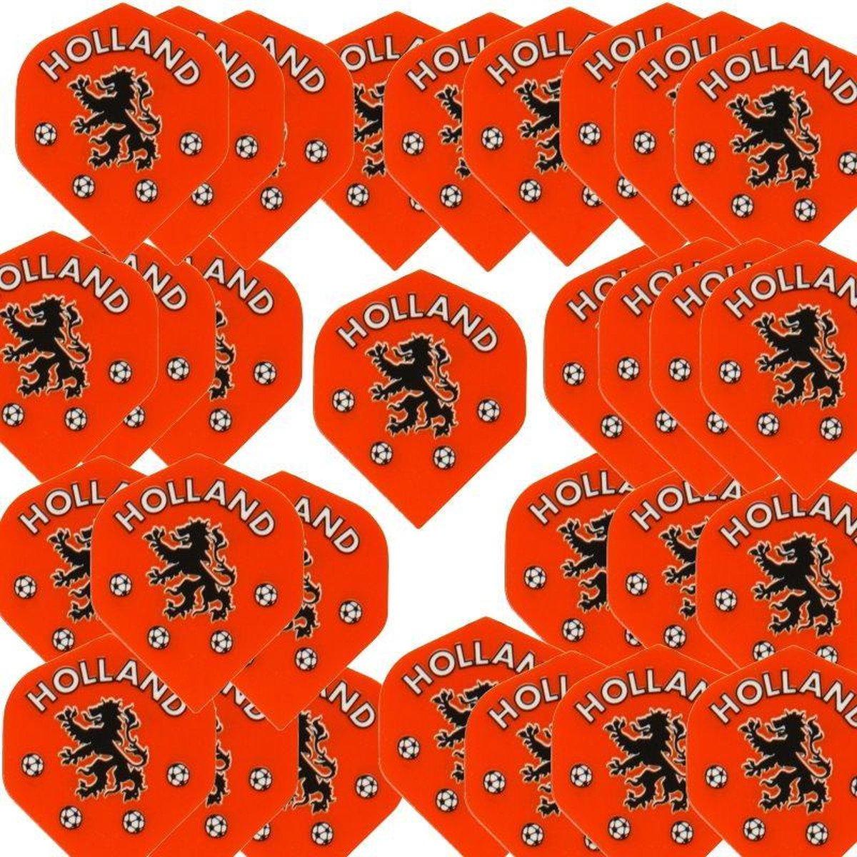 10 sets Dartflights Fluoranje Holland voetbal Leeuw